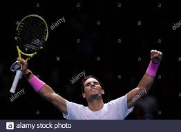Tennis - ATP Finals - The O2, London, Britain - November 13, 2019 Spain's  Rafael Nadal celebrates winning his group stage match against Russia's  Daniil Medvedev REUTERS/Toby Melville Stock Photo - Alamy