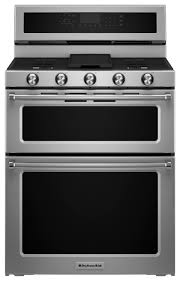 kitchenaid 6 7 cu ft self cleaning freestanding double oven dual fuel convection range stainless steel