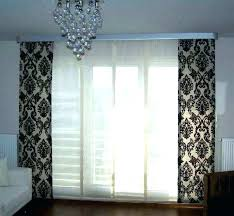 curtains for sliding doors ideas nice design glass door with ds and blinds rods target