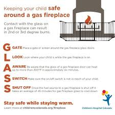 glass door fireplace safety