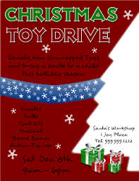 Food Drive Flyers Templates Christmas Toy Drive Flyer Template For Inkscape Free