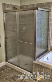 semi frameless single shower doors 2. Elegant 💎 Semi-frameless Shower Slider With Rain Glass And 💯 Brushed Nickel Hardware 🚿 Semi Frameless Single Doors 2 I