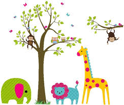 amazing aliexpress buy large size animal wall stickers for kids room in kids wall art attractive  on wall art childs room with excellent wall art decor popular splendid wall art children stickers