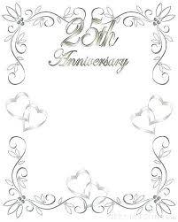 Free 25th Wedding Anniversary Invitations