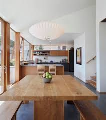 Polished Concrete Floor Kitchen Corrugated Steel House With Warm Wood Details Throughout