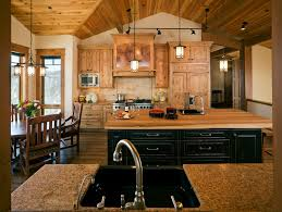 track lighting for kitchens. Rustic Track Lighting Kitchen With Black Painted Butcher Block For Kitchens N