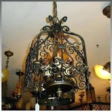 the light in spanish revival 3 light entryway chandelier antique lighting ruby lane light blue spanish