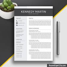 Resume Template + Cover Letter / Cv Template Word (Us Letter, A4 ...