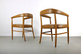 set of two mid century modern accent chairs in the manner of pea for craft