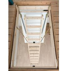 hobby folding wooden loft ladder ladders with handrail deluxe larch twin handrails loft ladder with handrail