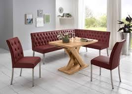 Moderne Eckbankgruppe Honigeiche Dekor Eckbank 2 Stühle Und Esstisch Mit S