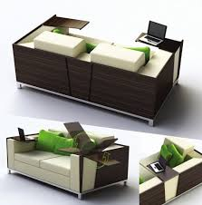 space saver furniture. Awesome Design Of The Space Saver Furniture With Black Wooden And White Sofa Ideas