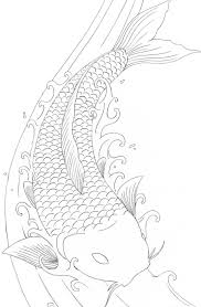 Koi Fish Coloring Pages Free Coloring
