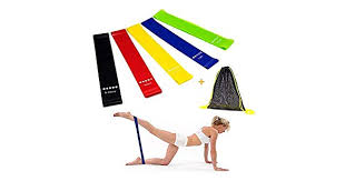 6Pcs <b>Resistance Bands Exercise Bands</b> for Woman <b>Yoga</b> ...