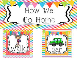 How We Go Home Chart Printable Rainbow How We Go Home Printable Chart Classroom Management