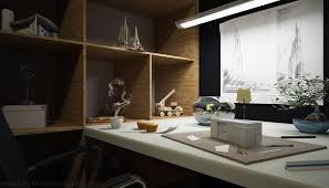 Home Black Gray Wood Office Desk Idea Decoseecom