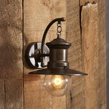 barn light sconce light outdoor barn simple brown wooden wall one small lamp hanging
