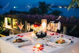Candle Light Dinner Table Setting Romantic Candlelight Dinner Table Setup For Valentines Day With