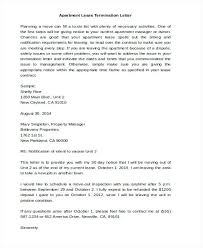 30 day termination letters lease termination notice sample day letter to landlord template free