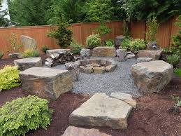 Small Picture ARCHITECTURE Backyard Landscaping Ideas With Fire Pit Bench Plus