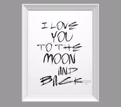 i love you to the moon and back e canvas wall art poster print inside most