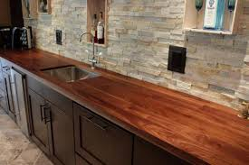 image of diy wooden kitchen countertops