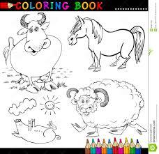 Animales Del Campo Para El Libro O La Paginaci N De Colorante Colorantes Animales L