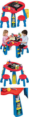 play tables and chairs 66743 art desk table for kids crayola drawing paints chalkboard toddler