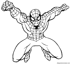 Small Picture Coloring Pages With Spiderman anfukco