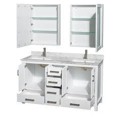 58 inch bathroom vanity. Elegant 58 Inch Double Sink Vanity With Sheffield 60 Bathroom White Finish A