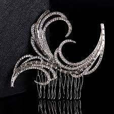 Stunning New Arrival Art Deco <b>Silver Clear</b> Rhinestones Crystals ...