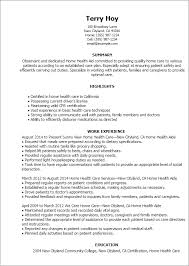 Resume Templates: Home Health Aide