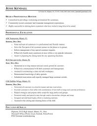 Hostess Resume Sample : Hostess Job Description Resume