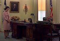 desk oval office. lyndon baines johnson seated at the desk 1968 oval office