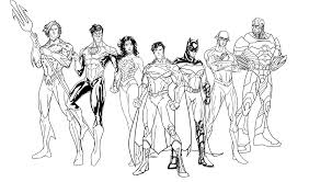 justice league coloring pages coloringsuite within
