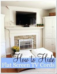 mounting tv above fireplace hiding wires flat screen wiring visible mantel solution