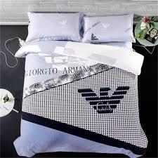 armani fashion luxury bedding sets versace lv cotton beddings bed sets