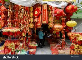 hanoi vietnam january 15 2017 souvenirs gift and decoration for vietnamese