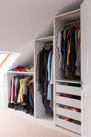 these are standard ikea pax wardrobes cut down to fit the space a very economical