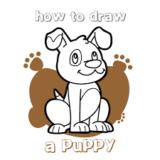 Small Picture How to draw how to draw a puppy for kids Hellokidscom
