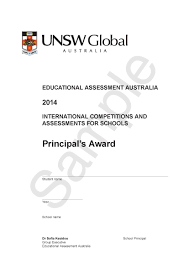 Principal Award Certificate Icas Hong Kong Office
