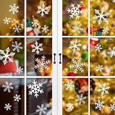 90 Stück Fensterbilder Für Weihnachten Nasharia Schneeflocken Aufkleber Fensterbilder Wanddeko Aufkleber Abziehbilderabnehmbare Fensterdeko Statisch