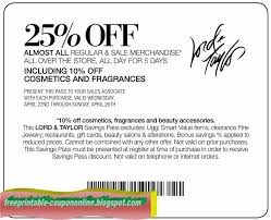 Printable Coupons For Lord And Taylor 2019