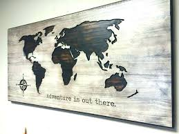 metal world map wall art of the large frame
