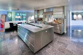 Impressive Modern Kitchen Flooring Stainless Steel Floor Tiles H Inside Concept Design