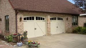 almond garage doorCarriage House Overlay Garage Doors Saratoga County NY Empire