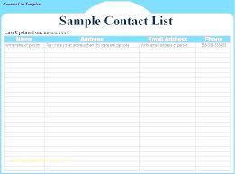 Cute Contact List Template Excel Address List Template Wsopfreechips Co