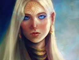 арт Dragon Age девушка лицо татуировка узор солнце Hd обои для ноутбука