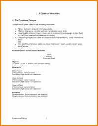 Different Resume Formats Elegant Types Of Resume Formats Famous
