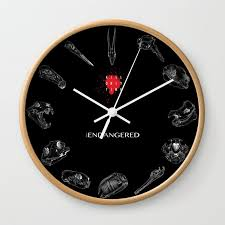 endangered species 2018 wall clock